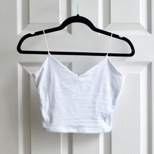 Windsor Cropped Tank Top White